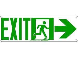 """Exit Sign, Brady, 114651, 7""""Hx21""""W"""