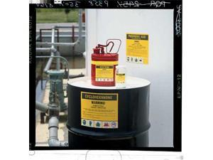 BRADY 7290PLS Chemical Label, 2 In. H, 2-7/8 In. W, PK 25