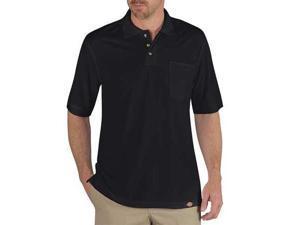 DICKIES LS404BK XL T-Shirt,Mens,XL,11 in. Sleeve L,Black