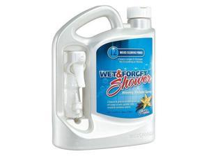 WET AND FORGET 801064 Shower Cleaner,64 oz.,Vanilla,Clear