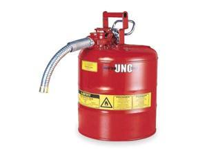 JUSTRITE 7250120 Type II Safety Can, Red, 171/2 In., 5 gal.