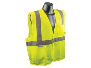RADIANS SV2GMXL High Visibility Vest, XL, Green, Hk-and-Lp