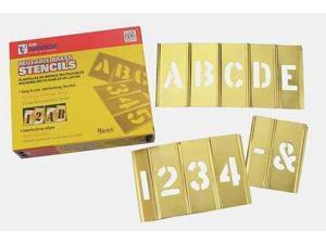 CH HANSON 10065 Stencil Kit, Brass,
