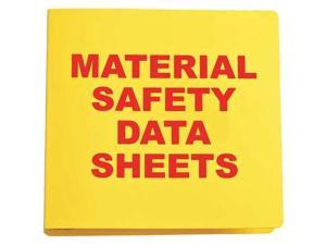 BRADY BR825A Binder, Material Safety Data Sheets