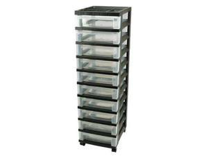 IRIS 116900 Cart with Organizer Top,10 Drawer