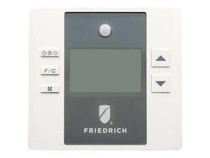 FRIEDRICH EMRT1 Thermostat, 24VAC, White/Gray