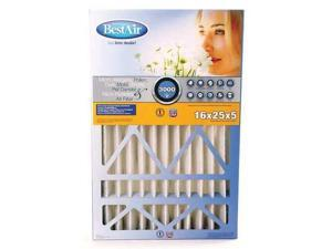 BESTAIR PRO CB1625-13R-2 Air Cleaner Filter, 25x16x5, MERV13, PK2