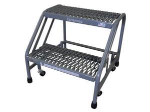 Gray Mobile Step Stand, 1302N2223A3E10B3C1P6, Cotterman