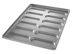 CHICAGO METALLIC 41055 Hoagie Bun Pan, 12 Moulds