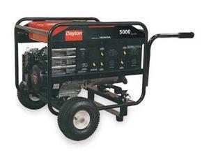 DAYTON 2ZRP8 Portable Generator, Rated Watts5000, 389cc