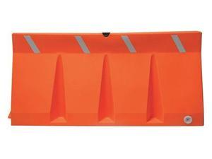 DPI TB-6-10 Polycade Traffic Barrier, Orange, 34inH