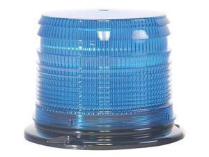 STAR 255TS-B Low Prof Strobe,Blue,Flange,Strobe Tube G4828607