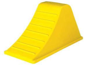CHECKERS INDUSTRIAL PROD INC AT3512-AC-Y Wheel Chock,8-1/4 In H,Urethane,Yellow