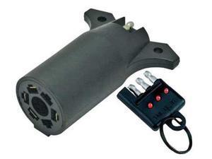 REESE 74685 Wiring Adapter, 7-Way Blade to 4-Way Flat