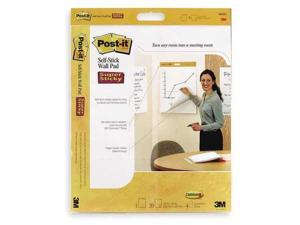 POSTIT 566SS Wall Pad, 23 x 20in, White