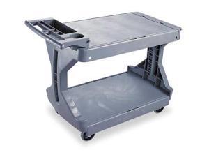 AKROMILS 30936GREY Utility Cart, 400 lb. Load Cap., PE