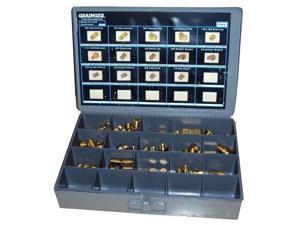 Assorted Fitting 42 Pc. Kit, NPT, Brass, 1200 PSI