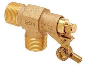 BOB R400-1/2-LF Float Valve,1/2in.,LF Brass,Pipe Mount G6174025
