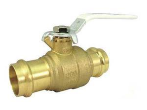 Milwaukee Valve Upba-480S - 34 Ball Valve,Brass,2-Piece,3/4In.,200 Psi G6132646