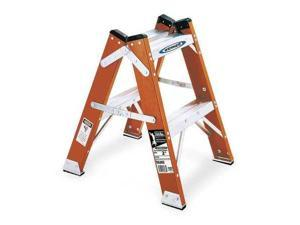 WERNER T6202 Twin Step Stool,24 In H,300 lb.