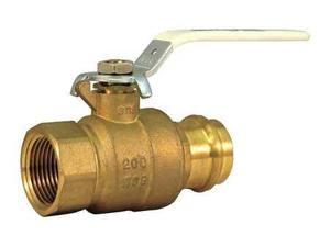 Milwaukee Valve Upba-490S - 34 Ball Valve,Brass,2-Piece,3/4In.,200 Psi G6146481