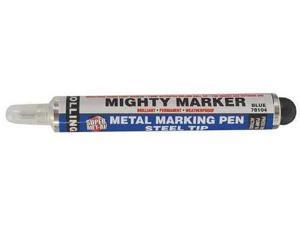 MIGHTY 78104 Industrial Marker,SS,Ball Tip,Blue G5353747