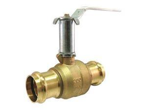 Milwaukee Valve Upba-481B - 34 Ball Valve,Brass,2-Piece,3/4In.,200 Psi G6114796