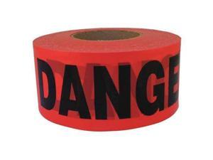 C.H. HANSON 14998 Barricade Tape, Red, Danger, 3in