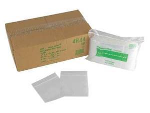 RELOC ZIPPIT 4R34 Reclosable Bag, 3in.L, 4in.W, 4 mil, PK1000