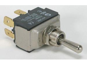POWER FIRST 2LMZ8 Toggle Switch, DPST, 4 Conn., Mom On/Off