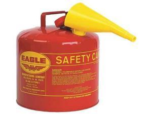 EAGLE UI50FS Type I Safety Can, 5 gal, Red