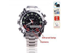 8G HD IR 1080P Waterproof Spy Camera Watch Mini DVR Watch with Night Vision W2000