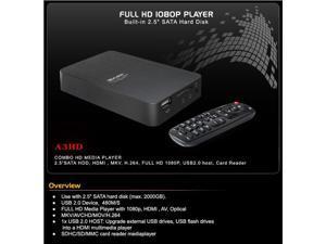 Measy A3HD Full HD Media Player 1080P MKV Boxchip F10 2.5 SATA HDD,HDMI,MKV,H.264,Full HD 1080P,USB2.0 Host, Card Reader
