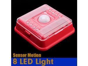 PIR Auto Sensor Motion Detector LED Night light Wireless Infrared 8 LEDs lamp Nightlight