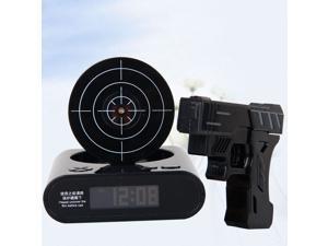 Gun Alarm Clock / Shoot Alarm Clock / Gun O'Clock / Lock N Load Target Alarm Clock Black