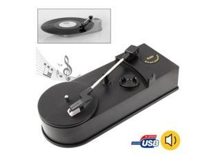 EC008B USB Portable Mini Phonograph Turntable Vinyl Audio Player Support Turntable Convert LP Record to CD MP3