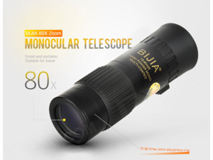 Tactical High Visibility Monocular 15-80x25 Shimmer Night Vision Mini Binoculars Telescope Telescope Hunting Camping