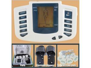 JR-309 TCM Digital Massage TENS Unit Machine + TENS Acupuncture Massage Slipper + 16 Electrode Pads