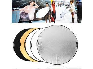 43 Inch 110CM 5 in 1 Round Portable Collapsible Multi Disc Light Photographic Lighting Reflector with Handle Bar