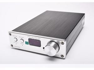 Wireless Bluetooth D802C Silver Remote Control Pure Digital Audio Amplifier Input USB/RCA/Optical/Coaxial 24Bit/192KHz 80W+80W