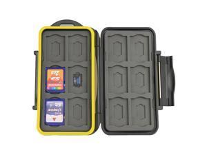 JJC MC-SDMSD24 Waterproof Shockproof Hard Storage Memory Card Case For 12 SD +12 Micro SD Cards