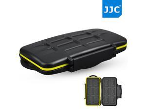 JJC Water-resistant Shockproof SD Card Holder Storage Camera Memory Card Bag Case Protector Cover For 12 SD+12 Micro SD Cards