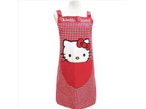 Hello Kitty Drop Waist Apron Adult Rare Check Red