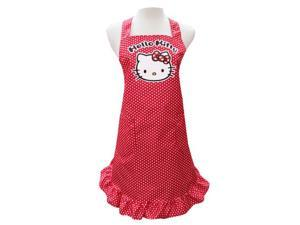 Sanrio Hello Kitty Cooking Craft Apron Adult Rare Polka Dot RED