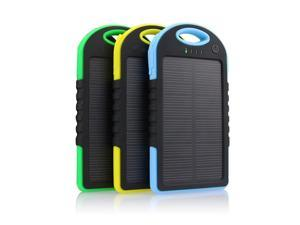 12000mAh Portable Waterproof Solar Charger Dual USB External Battery Power Bank for iPhone 5 5S 6 Plus Samsung S6 Edge