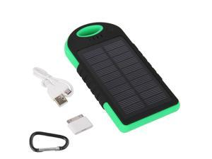 12000mAh Power Bank External Battery Solar Power Charger for iPhone Samsung Portable Outdoor Dual-USB Waterproof Dustproof