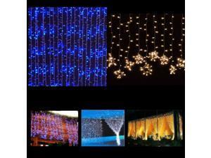 3M x 3M 300 LED Outdoor Party Christmas Xmas String Fairy Wedding Curtain Light 110V RGB Multi-color