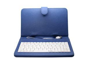 Universal USB Keyboard PU Leather Case Cover Stand For 7 inch Tablet With USB Cable To Fit Cover Case