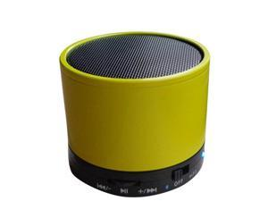 """Sungale SBK010 """"Cylinder"""" Portable Stereo Bluetooth Speaker with microphone and multi-function - Yellow"""