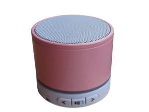 "Sungale SBK011 ""Seven Color Ring"" Portable Stereo Bluetooth Speaker with Microphone - Pink"
